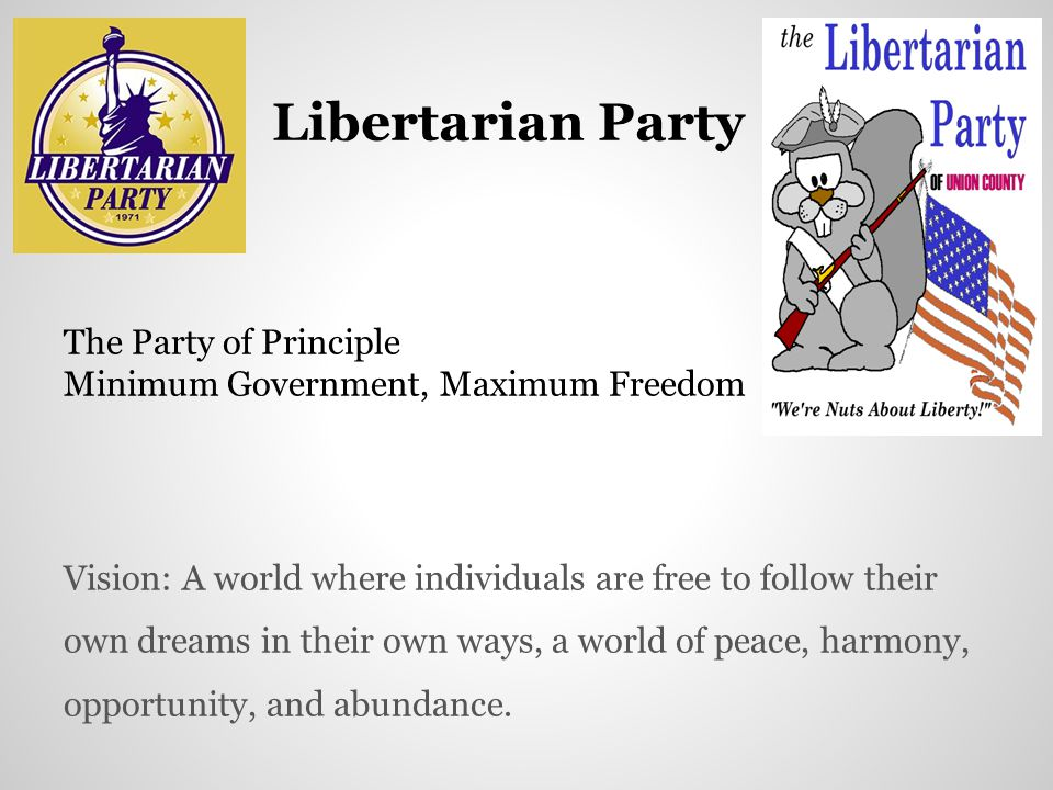 Libertarian Party The Party of Principle