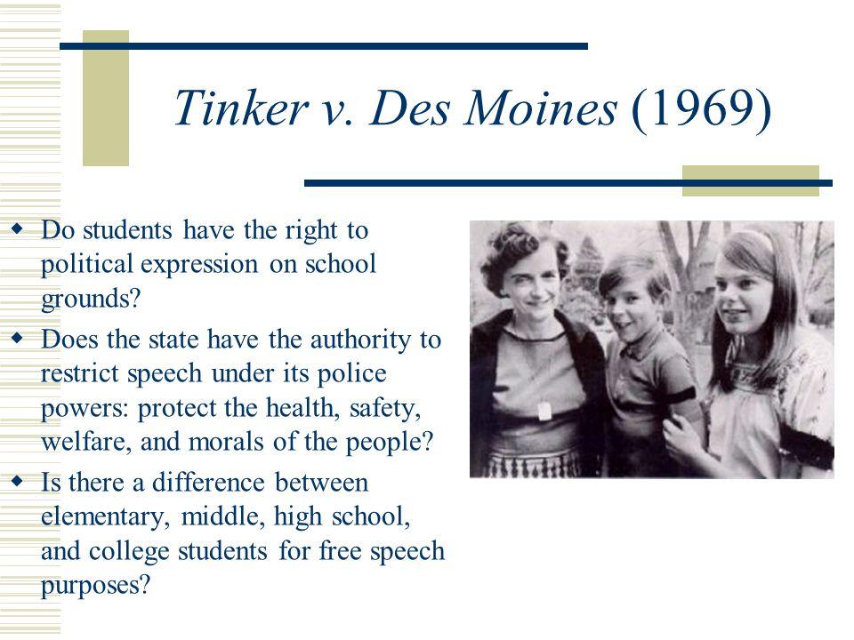 Tinker v  Des Moines and Texas v  Johnson - ppt video online