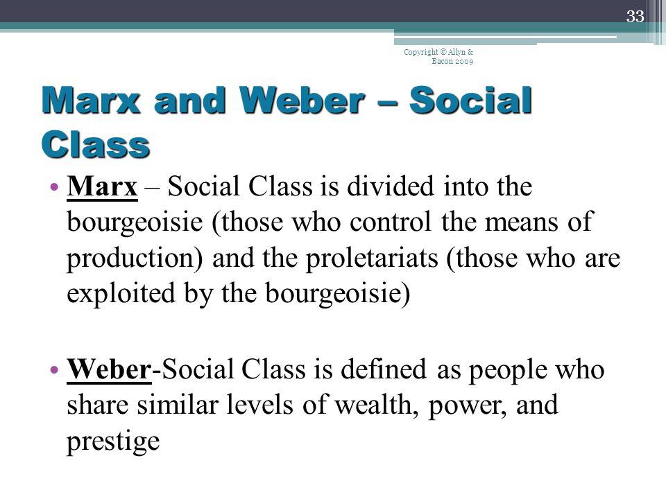 social class weber