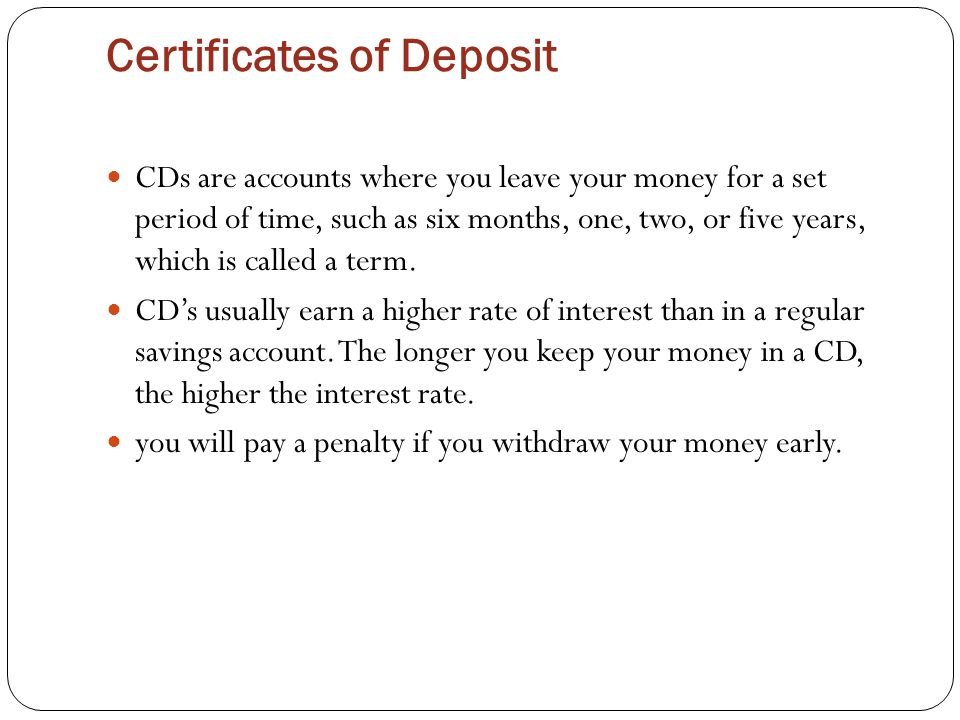 Banking Basics Deposit Accounts Created By Laura Kinchen Ppt