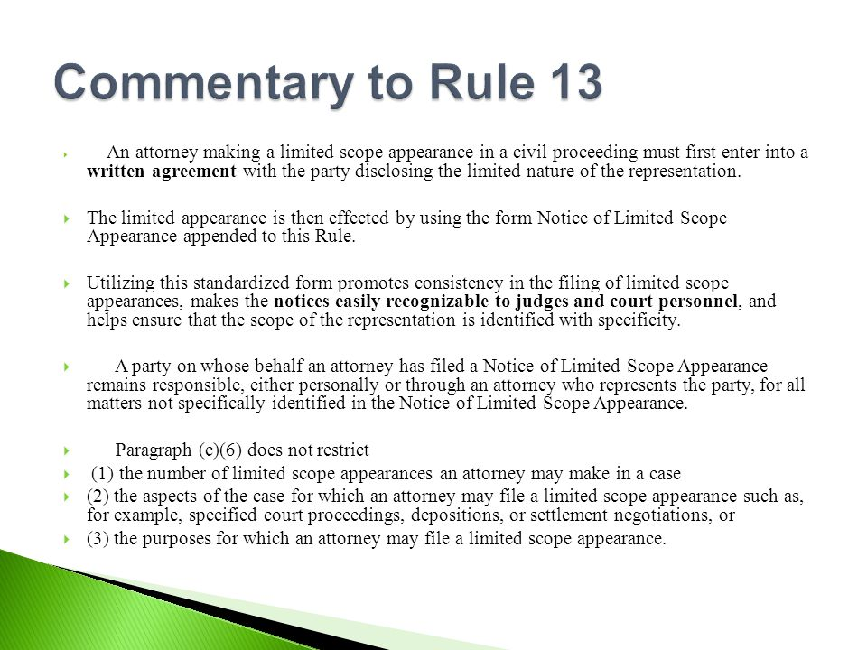 New Illinois Rules On Limited Scope Representation Ppt Download