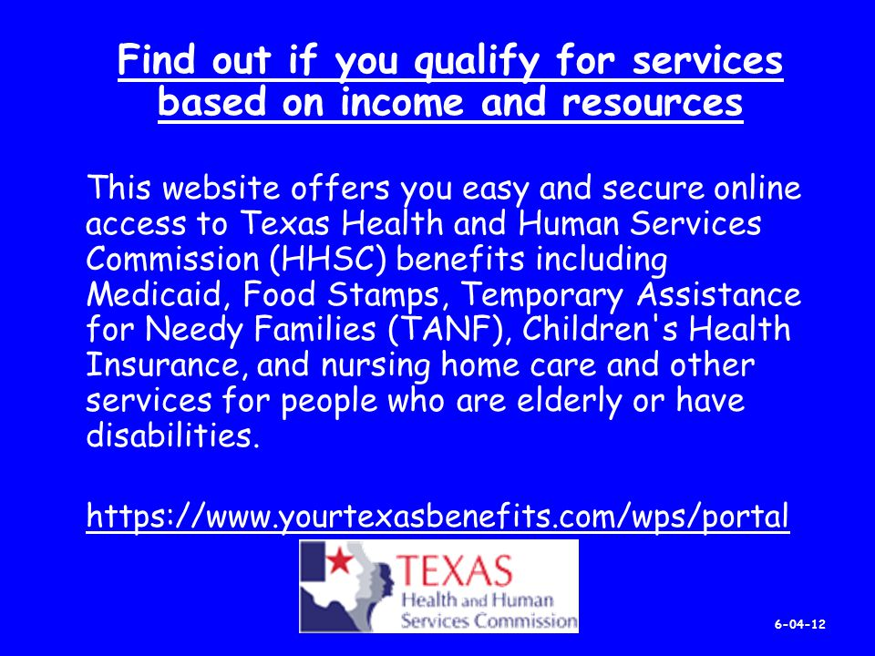 Texas Health And Human Resources Food Stamps