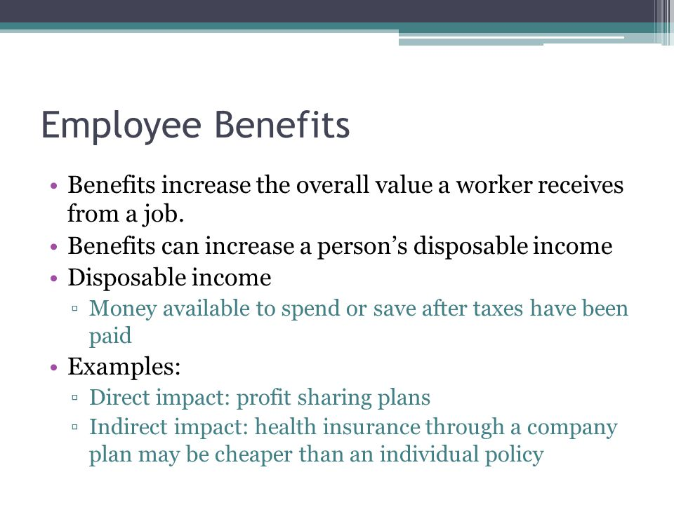 earned income and benefits ppt download