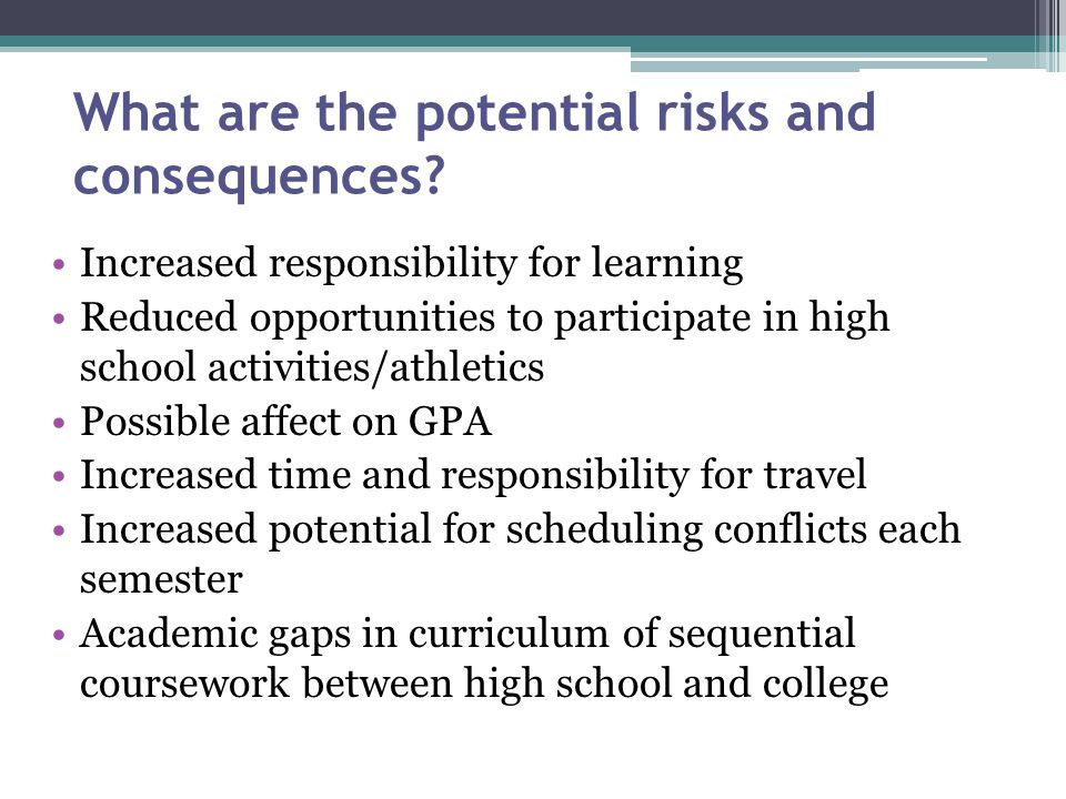 What are the potential risks and consequences