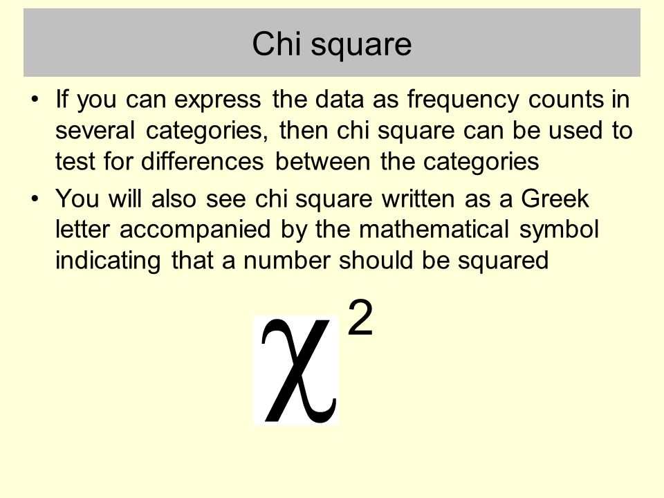Analysis Of Frequency Counts With Chi Square Ppt Video Online Download