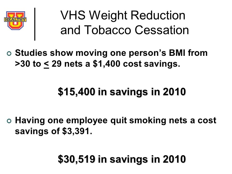 VHS Weight Reduction and Tobacco Cessation