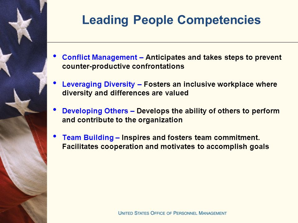 20 Leading People Competencies