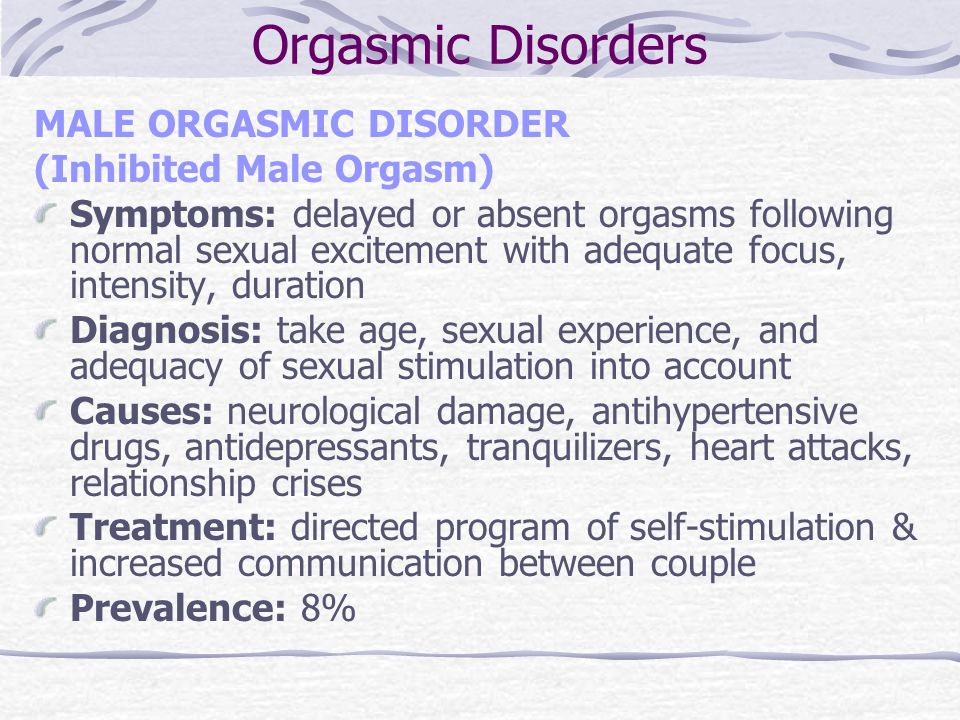 Male orgasm disorder