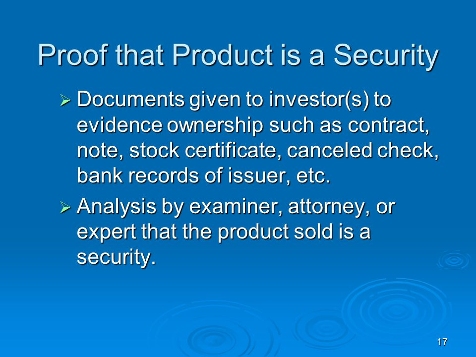 Proof that Product is a Security