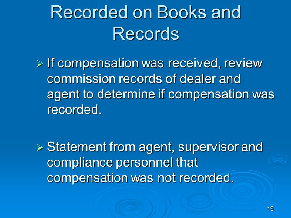 Proof that Transaction was not Recorded on Books and Records