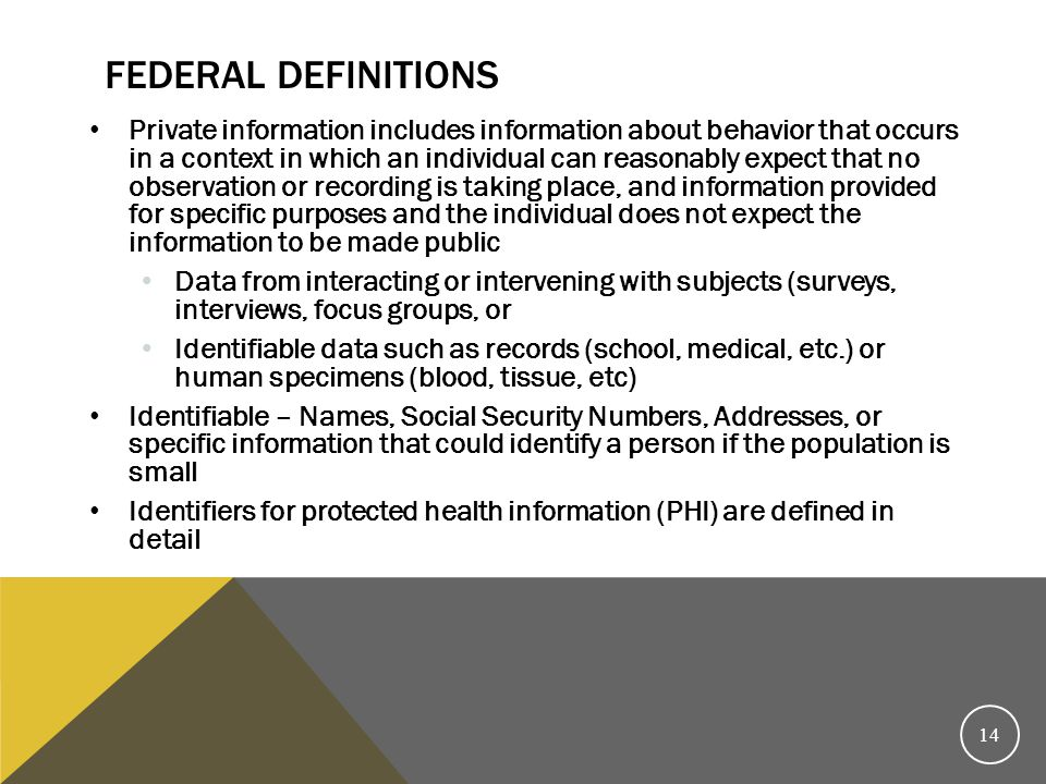 Federal Definitions