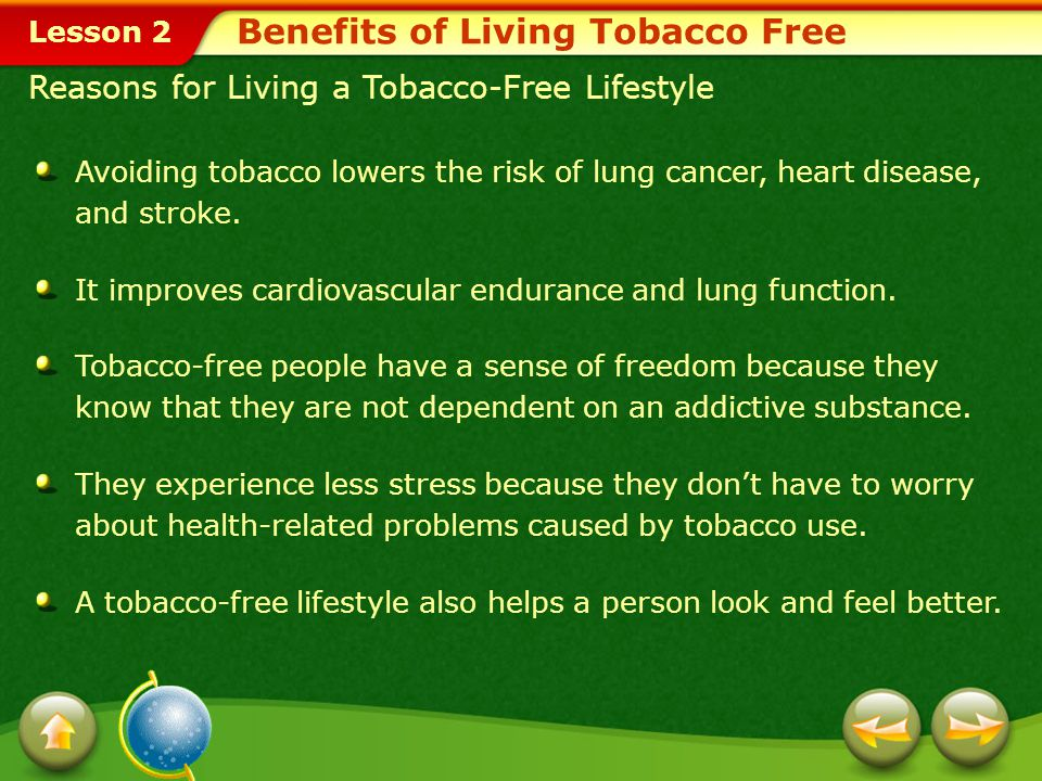 Benefits of Living Tobacco Free