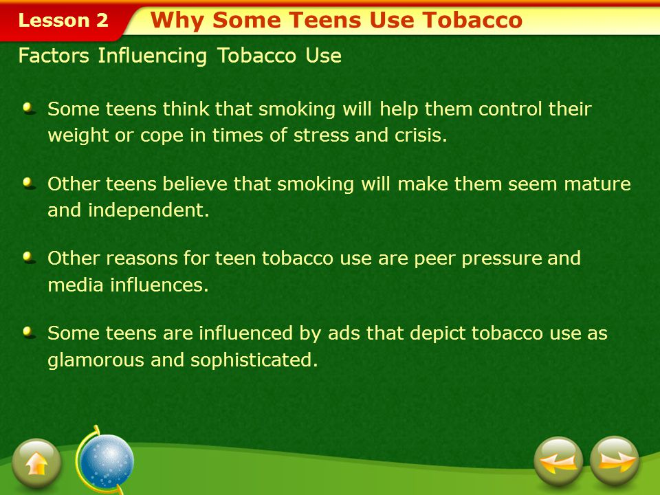 Why Some Teens Use Tobacco
