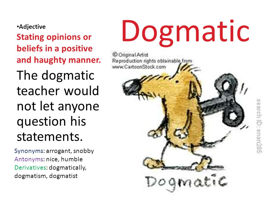 What Is The Meaning Of Dogmatic Statement لم يسبق له مثيل الصور