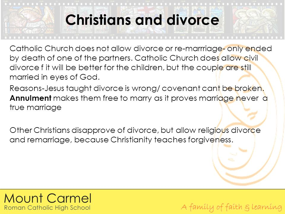 Catholic reasons for divorce