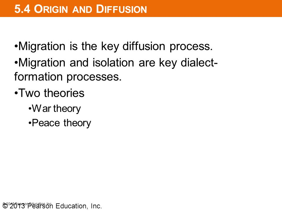 Migration is the key diffusion process.