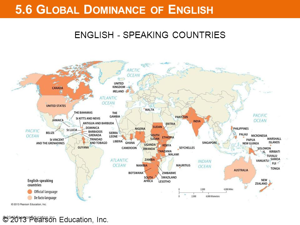 5.6 Global Dominance of English