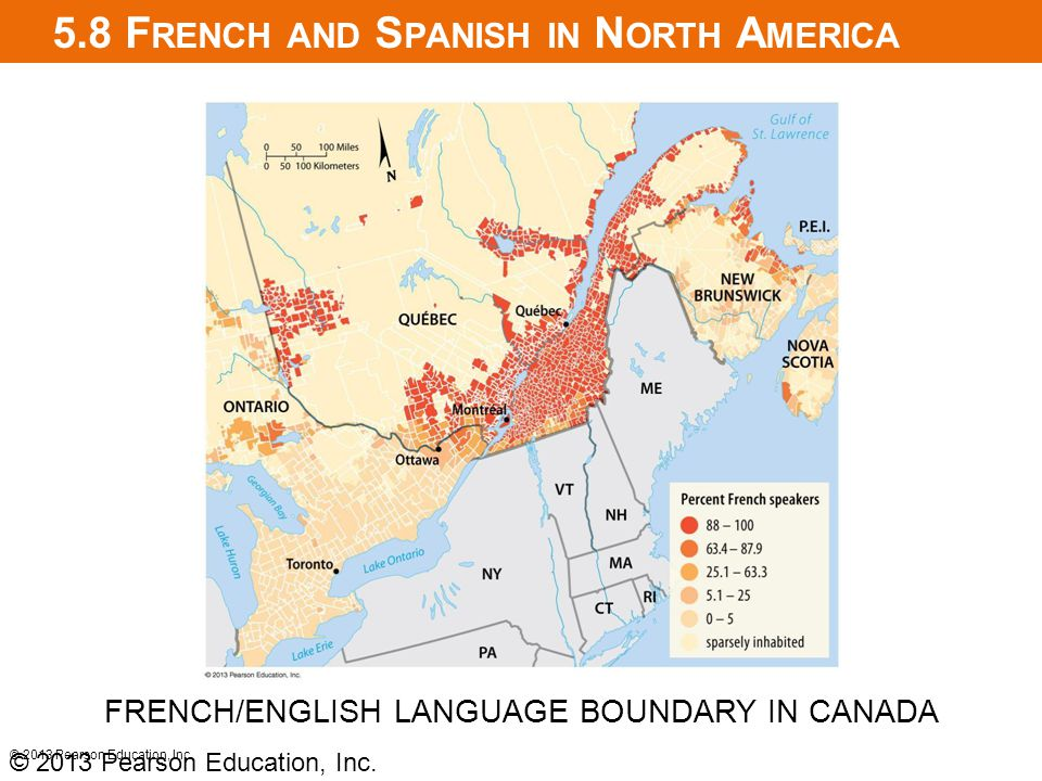 5.8 French and Spanish in North America