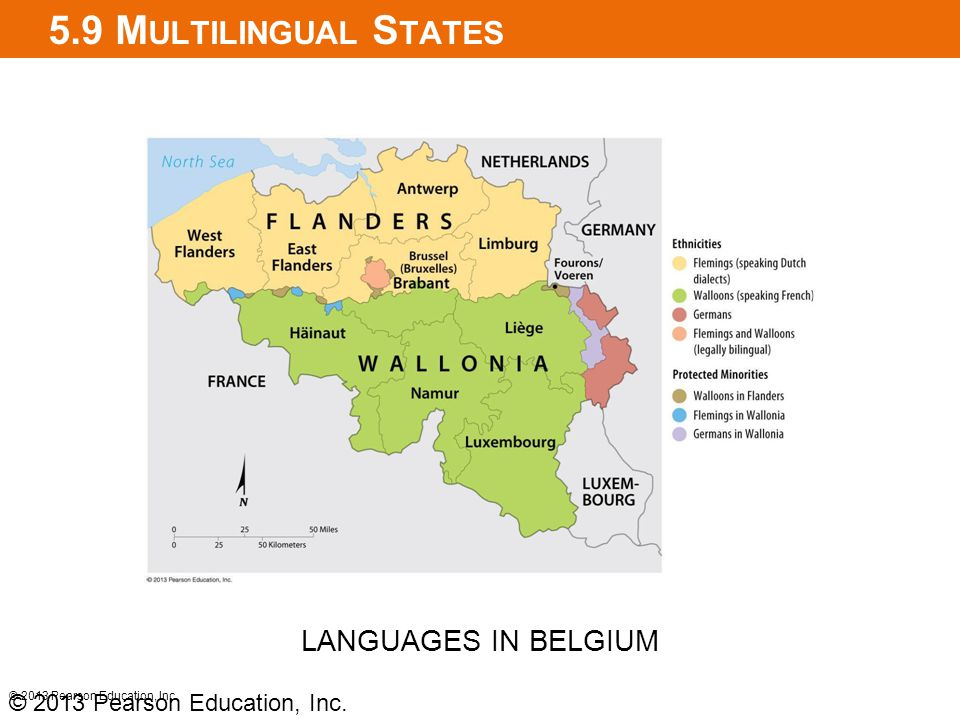 5.9 Multilingual States LANGUAGES IN BELGIUM