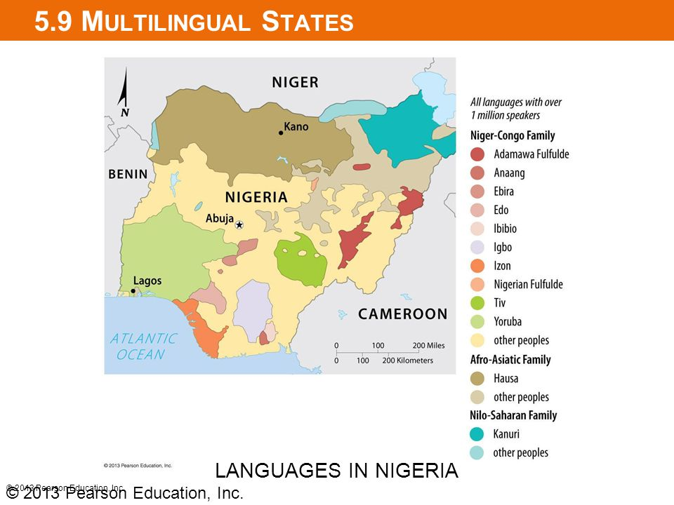 5.9 Multilingual States LANGUAGES IN NIGERIA