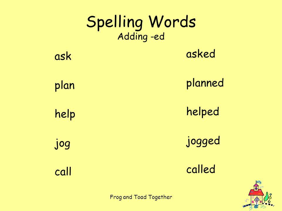 45++ Spelling worksheets for ask plan help jog call adding ed Popular