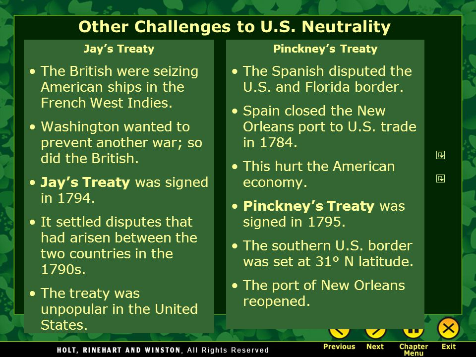 Other Challenges to U.S. Neutrality