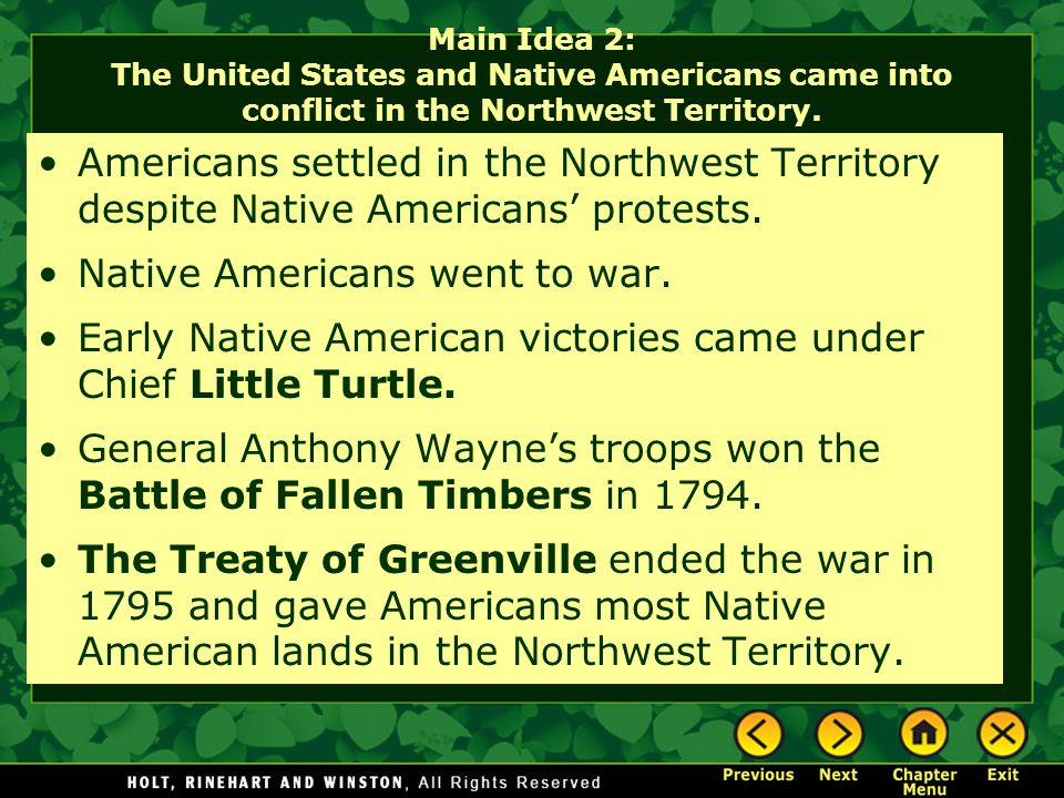 Native Americans went to war.