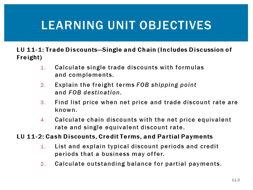 Discounts: Trade and Cash - ppt video online download