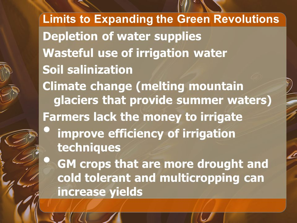 Limits to Expanding the Green Revolutions