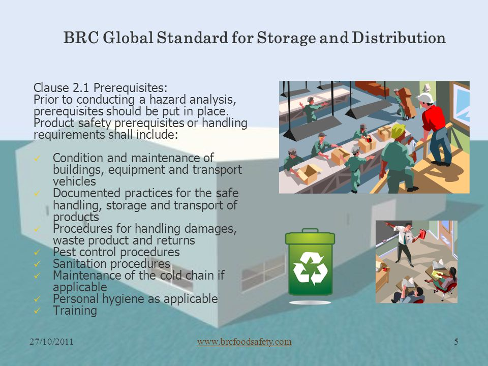 BRC Storage & Distribution Safety and Quality Management