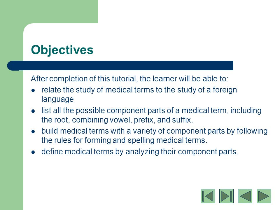 Medical Terminology: Basic Word Structure - ppt download