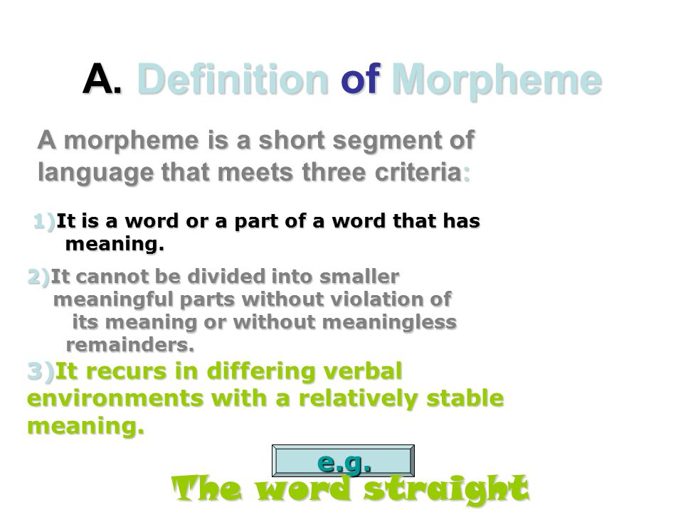 Morphemes No Ppt Video Online Download