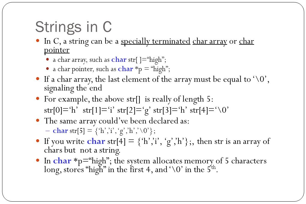 Definition of Strings Generally speaking, a string is a sequence of