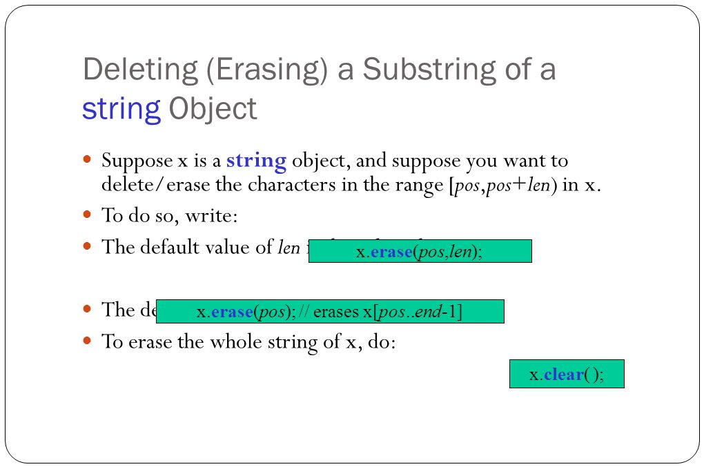 Definition of Strings Generally speaking, a string is a