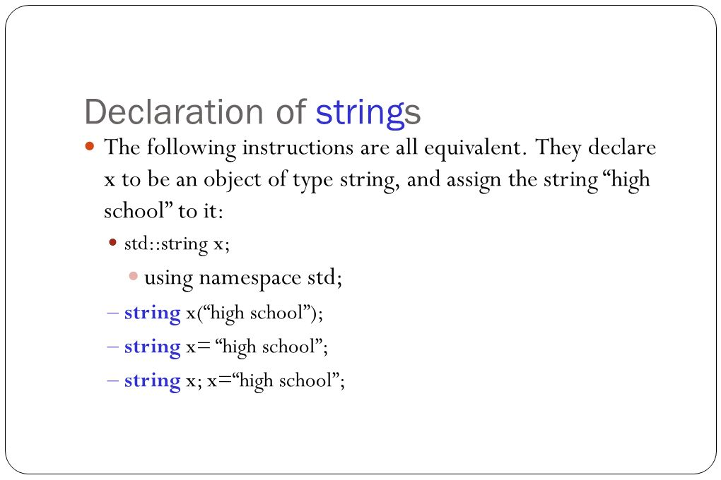 Definition Of Strings Generally Speaking A String Is A Sequence Of