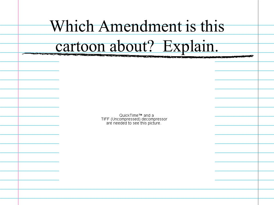 Which Amendment is this cartoon about Explain.