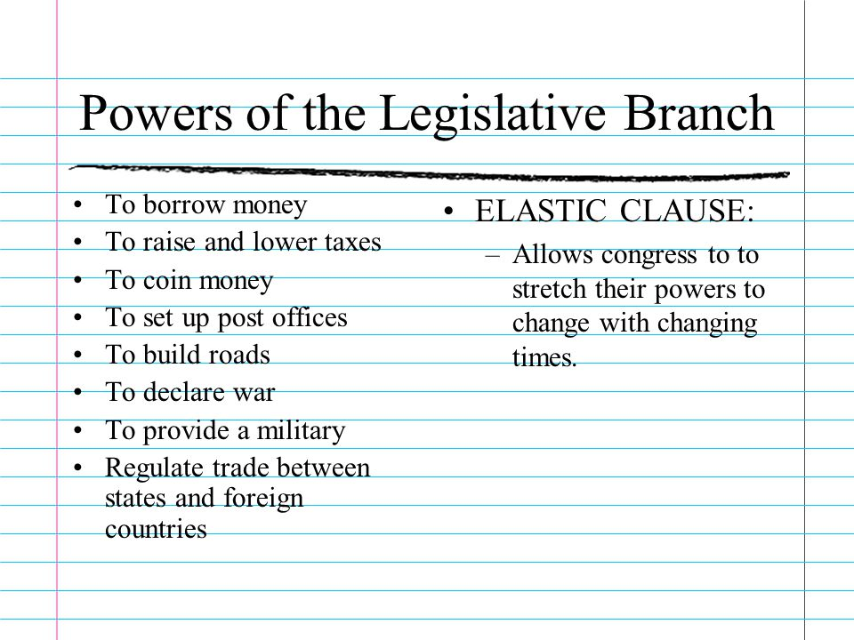 Powers of the Legislative Branch
