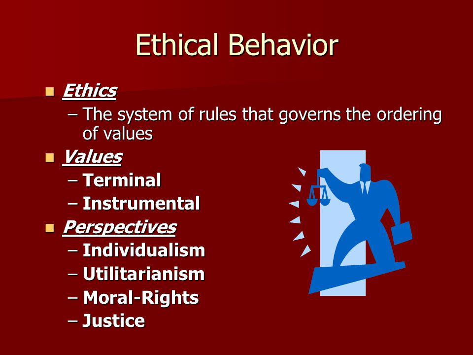 Ethical Behavior Ethics