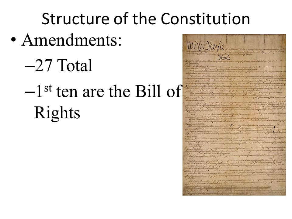 Structure of the Constitution