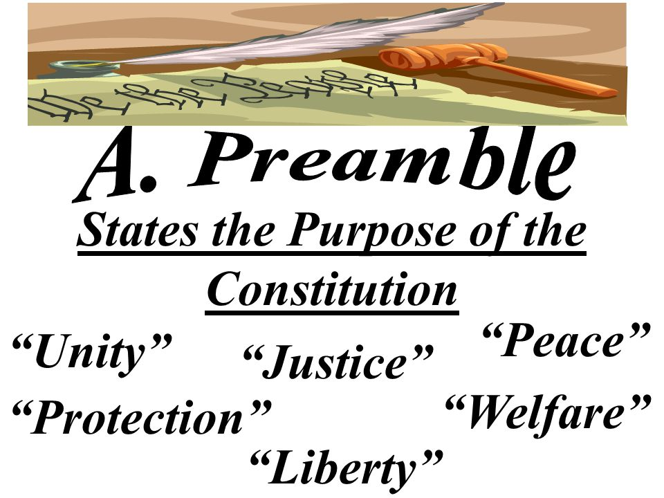 States the Purpose of the Constitution