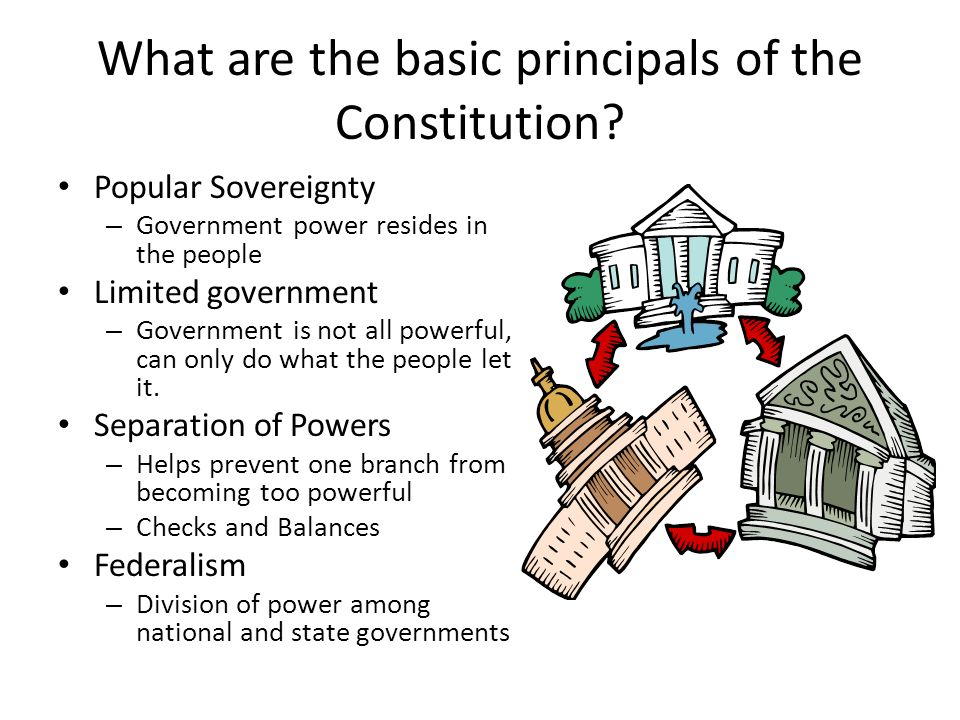 What are the basic principals of the Constitution