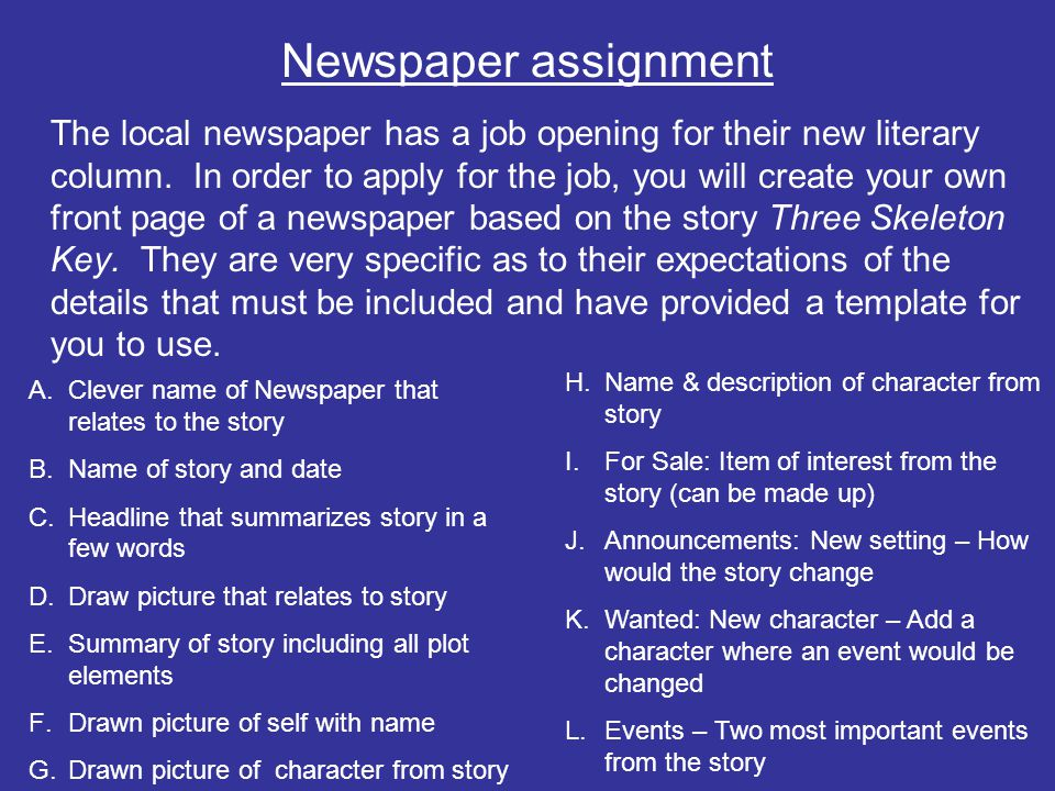 Three skeleton key by george toudouze ppt video online download 16 newspaper assignment ccuart Images