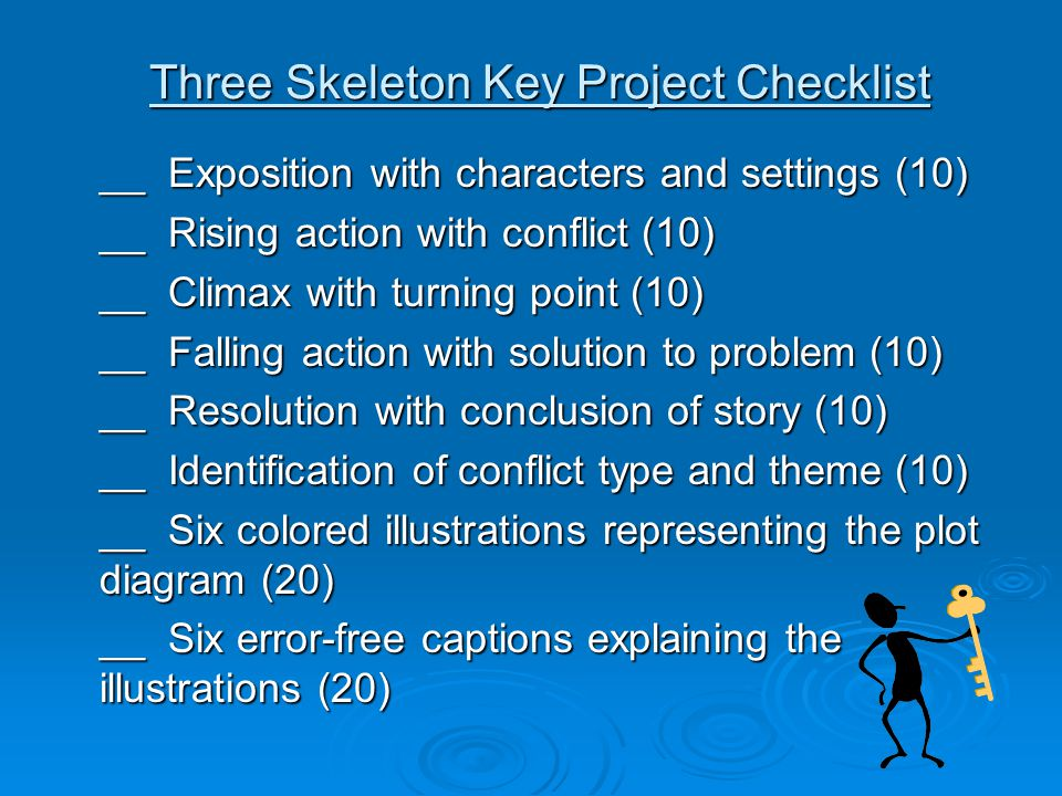 Three skeleton key project checklist ppt download three skeleton key project checklist ccuart Images