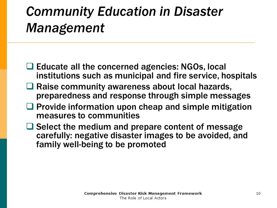 Community Education in Disaster Management