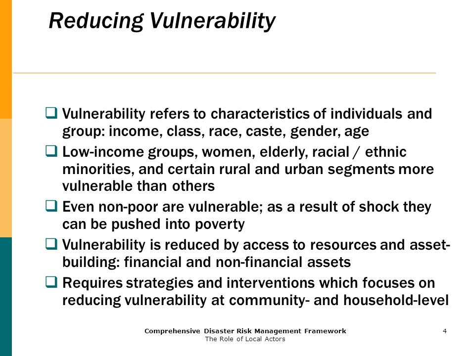 Reducing Vulnerability