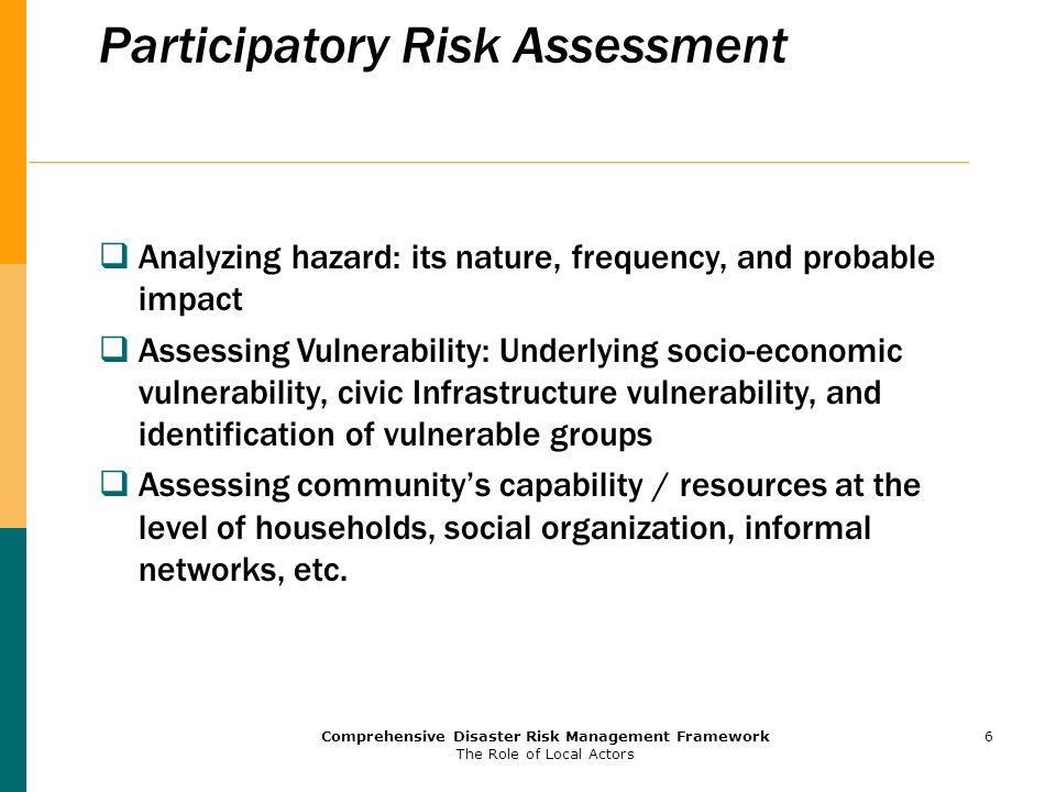 Participatory Risk Assessment