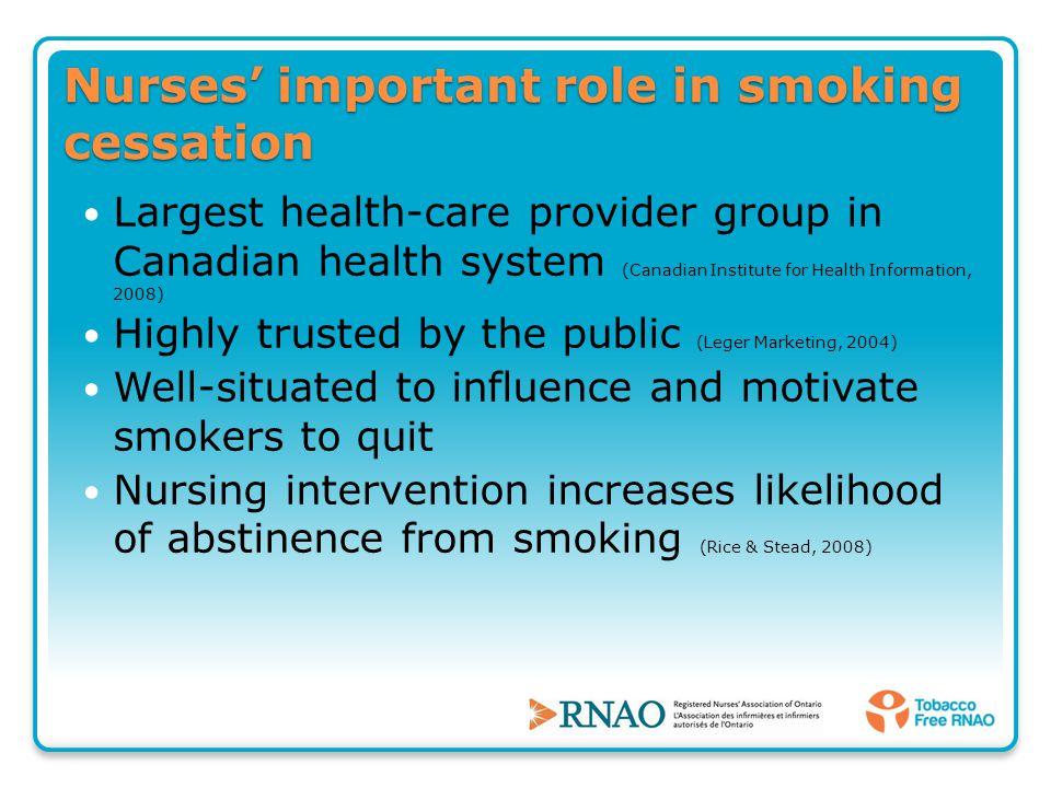 nursing interventions for smoking cessation