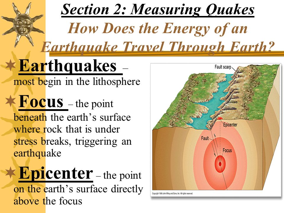 Earthquakes – most begin in the lithosphere