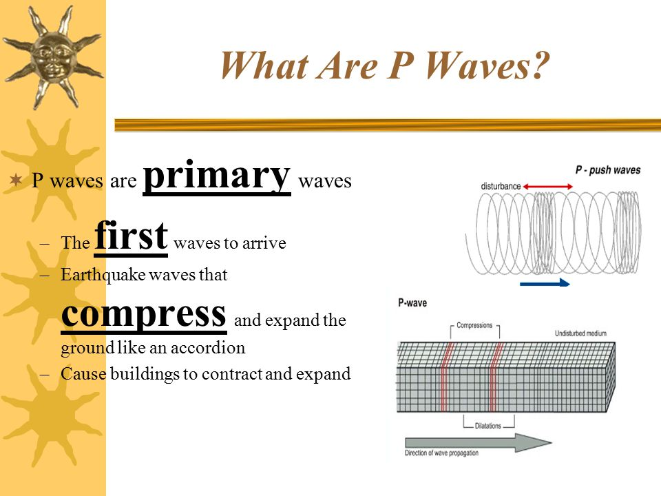 What Are P Waves P waves are primary waves The first waves to arrive