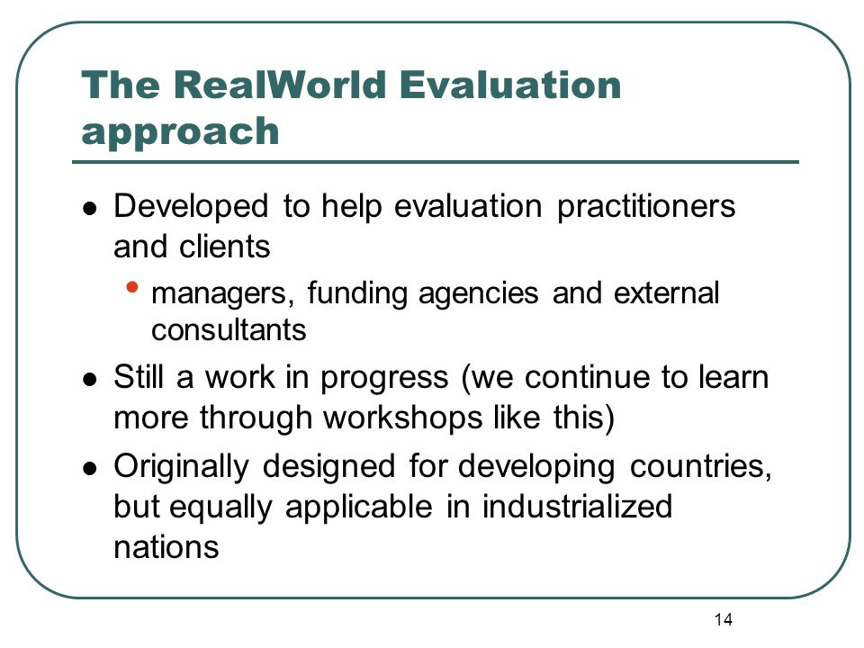 real world evaluation 2nd edition pdf